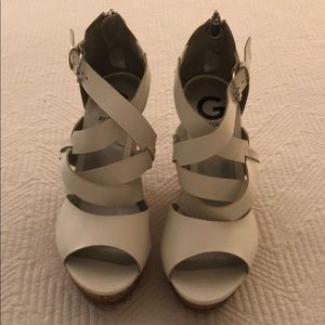 G by Guess Cork Wedge Sandals